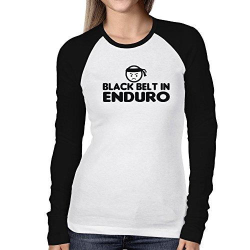 Teeburon BLACK BELT IN Enduro Women Long Sleeve Raglan T-Shirt ()