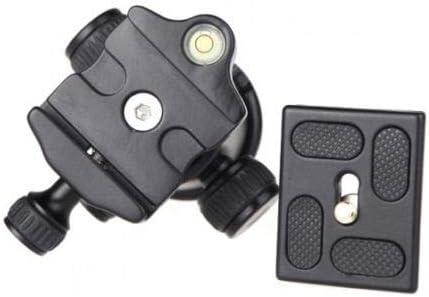 Black Tripod Ball Head Swivel 1//4 Mount Quick Release Plate for Camera DSLR