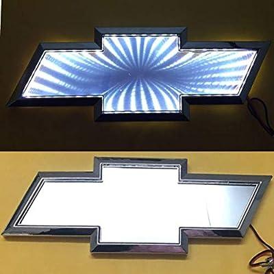 3D LED Car Tail Logo Light Badge Lamp Emblem For Chevrolet Holden Cruze Malibu EPICA CAPTIVA AVEO LOVR Fit for all Chevrolet of cars (white): Automotive