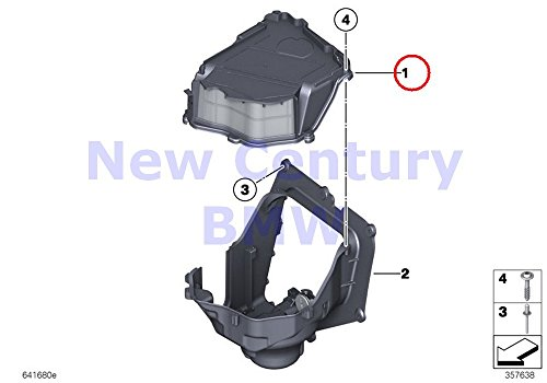 Genuine BMW F01 Blower Housing Cover with Coarse Filter OEM 64119216222