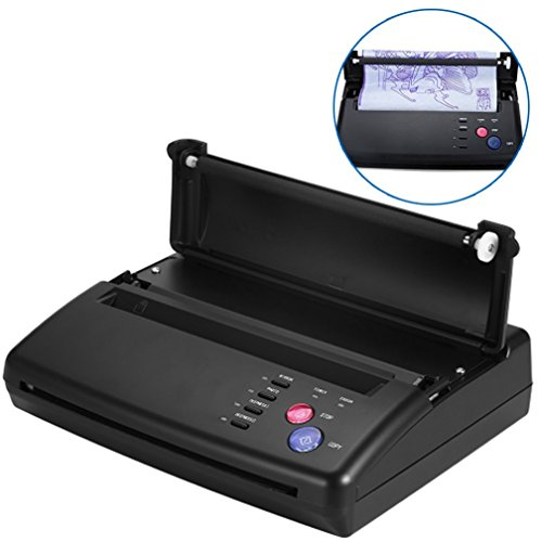 Tattoo Transfer Copier Thermal Stencil Printer Machine + Stencil Papers(US Plug)