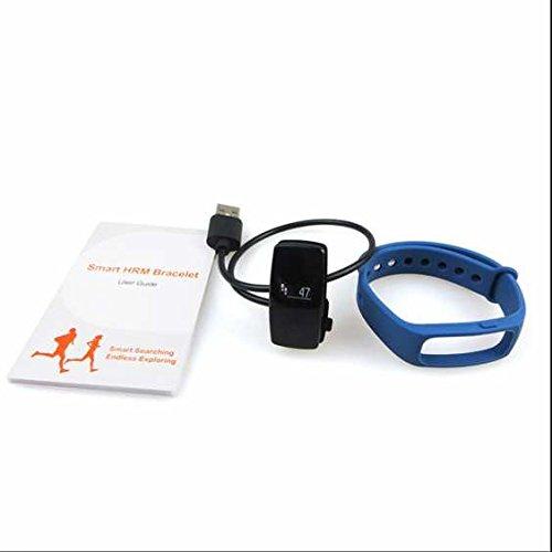 Fitness de Armband Fitness Tracker, Smart Paracord Smart Watch, frecuencia cardíaca Tensiómetro, consumo de calorías Supervisar, distancia, dormir Análisis, ...