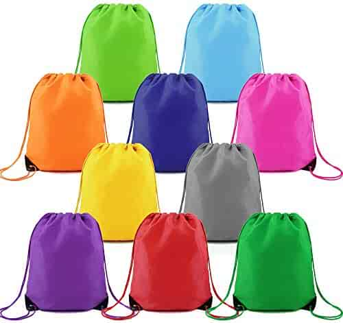 6fcd70988 Drawstring-Backpack-String-Gym-Bag 10 Pack Drawstring Gym Bag Custom  Multipurpose