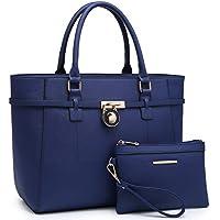 Large Top Handle Satchel Women Handbag Ladies Designer Purse Set Faux Leather
