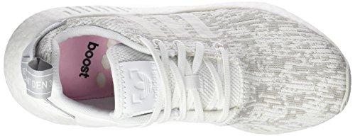 adidas Damen NMD_r2 Niedrig Weiß (Footwear White/Grey Two)