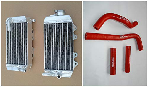 L&R aluminum radiator and hose for Honda CRF150 CRF150R 2007-2009 07 08 09 (red) ()