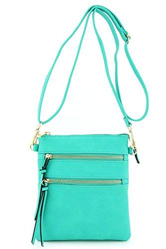 Small Purse (Functional Multi Pocket Crossbody Bag Turquoise)