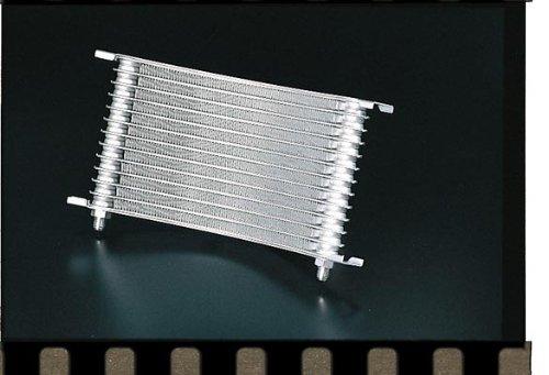 プロト(Plot) オイルクーラーコア [ラウンド] [段数/ホースサイズ] 13段/#6 シルバー(塗装) [H/W/T] 175.9/332.6/32mm 007-1050   B004HCNCJ8