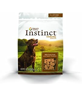 Natures Variety Instinct Grain Free Biscuits with Duck Meal & Sweet Potato Dog Treats, 20