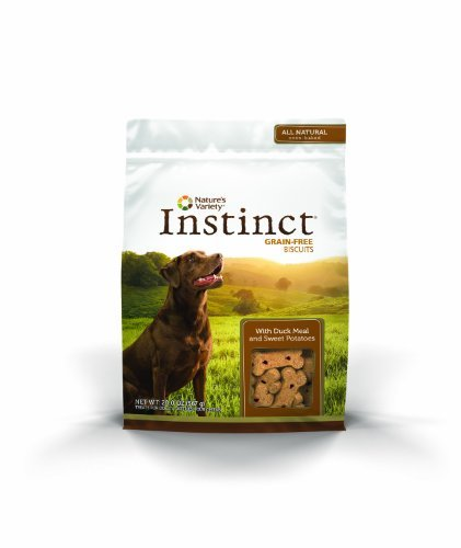 Nature's Variety Instinct Grain Free Biscuits with Duck Meal & Sweet Potato Dog Treats, 20 oz. Bag by Nature's Variety