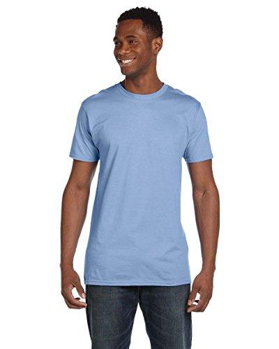 Hanes para hombre hilado y algodón cuello redondo camiseta Nano-T azul claro
