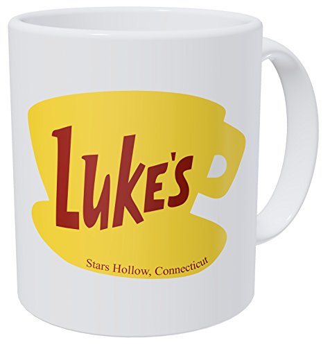 Thinker Art Funny coffee mug - 11OZ Ceramic - Luke's Diner. Best gift or souvenir.