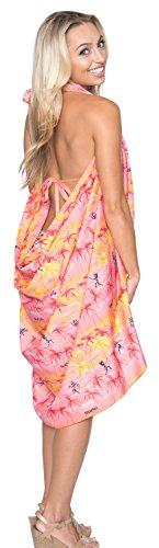 vestido pareo envoltura aloha traje de baño bikini traje de baño de pareo de playa encubrir las señoras de la piscina de baño Rojo