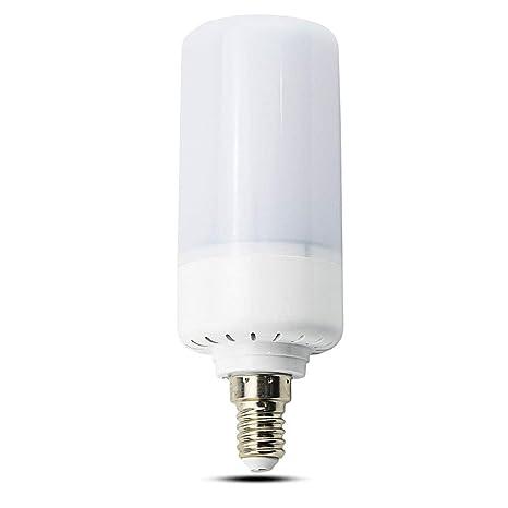 LuxVista 3-Modos 5W E14 LED Bombilla Decorativa con Efecto de Llama/Fuego para