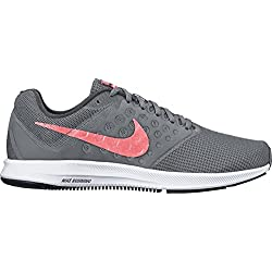 Nike Womens Downshifter 7 Running Shoes Cool Grey/Lava Grey/White 11