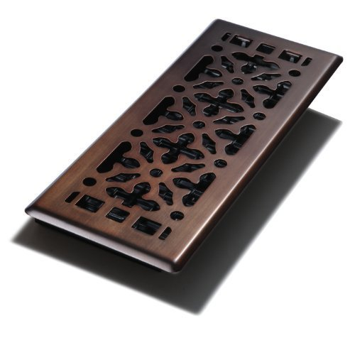 Decor Grates AGH412-RB 4-Inch by 12-Inch Gothic Bronze Steel Floor Register by Decor Grates (Import)