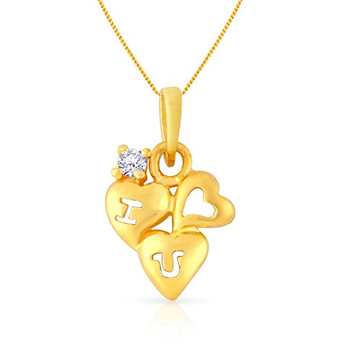 Malabar Gold and Diamonds Collection 22k Yellow Gold and Cubic Zirconia Pendant