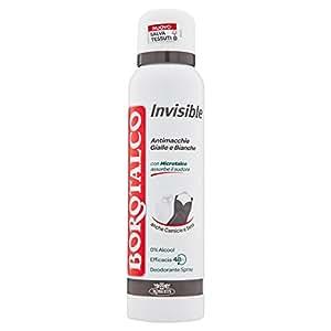 Borotalco - Invisible anti manchas desodorante - 150 ml - sin alcohol
