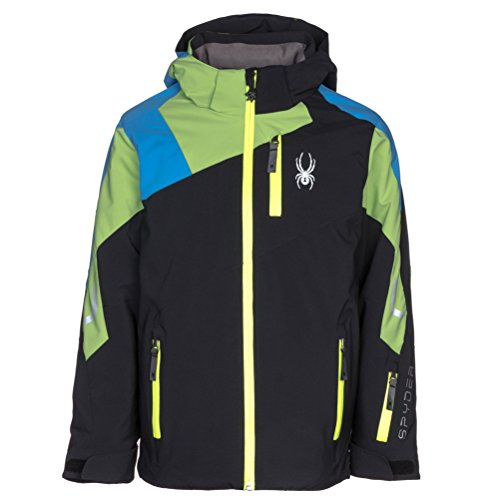 Spyder Kids Boy's Avenger Jacket (Big Kids) Black/Fresh/Fresh Blue 18