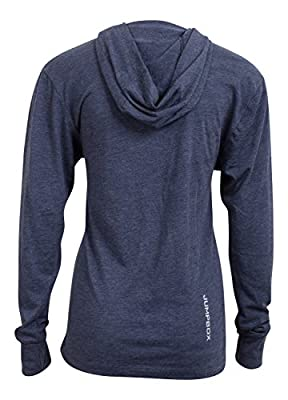 On the Road to Rx - Navy - Women's Long Sleeve Triblend Hoody Shirt