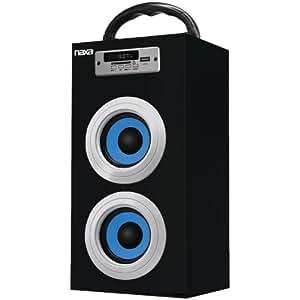 Naxa NAS3036 Stereo portable speaker 10W Negro, Azul - Altavoces portátiles (10 W, Alámbrico, 3,5 mm, 3,5 mm, Stereo portable speaker, Negro, Azul)