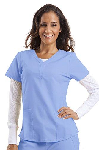(healing hands Purple Label Women's Jane 2167 V-Neck 2 Pocket Top Scrubs- Ceil Blue-)