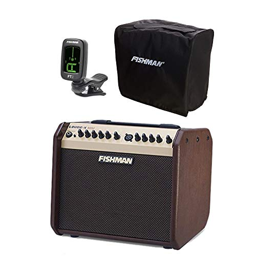 Fishman Loudbox Mini 60w Acoustic Guitar Amplifier w/FREE FT-2 Flip On Clip-On Digital Tuner and Slip - Guitar 60w
