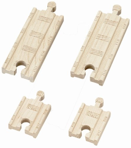 Track 4 Pieces Learning Curve - Learning Curve Thomas & Friends Wooden Railway - 2 Inch and 4 Inch Straight Track (4 pieces)