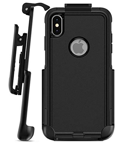 Encased Belt Clip Holster - Compatible with Otterbox Commuter Case - iPhone Xs MAX (case is Not Included) 05 Black Vertical Pouch