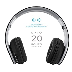 Leesentec T1 Wireless Bluetooth Headphones, Over Ear and Foldable Headset with Mic and 20 Hours Battery Life for Running/Sports (black)