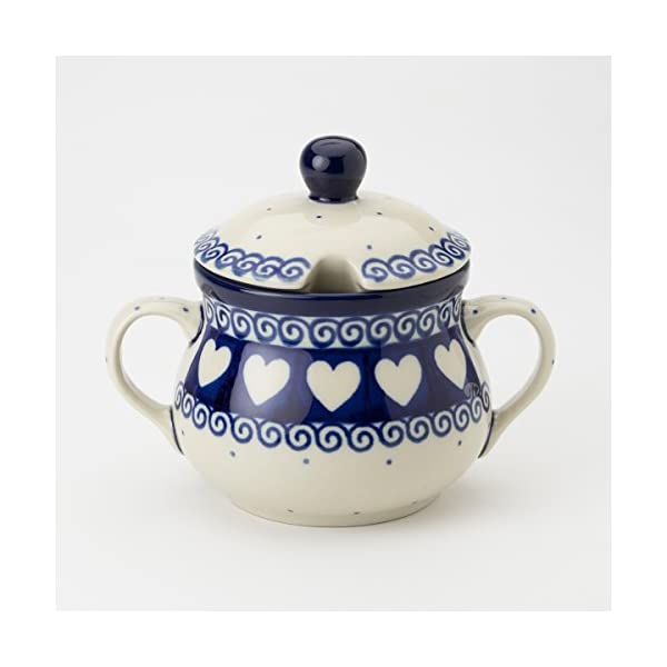 Polish Pottery Sugar Bowl – Light Hearted