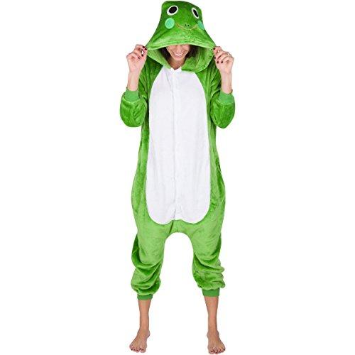 Emolly Adult Animal Frog Onesie Pajamas Costume (Medium, Frog) (Pink Gorilla Suit)