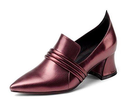 Talla a carrera Cuero de Zapatos oficina y genuino Mocasines 42 XIE baja Talla Bailarina mujer 35 de OZTBtwqtzx