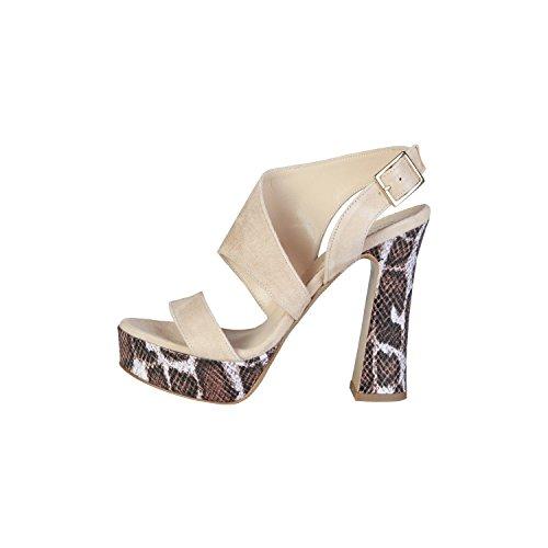 PIERRE CARDIN PIERRE CARDIN EW-1014 Sandalias De Vestir Para Mujer Con Correa De Tobillo Ajustable Tacón: 13 cm, Meseta 4 cm