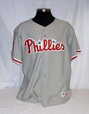 38a939d88 Philadelphia Phillies Authentic Majestic Grey Away Jersey with ...