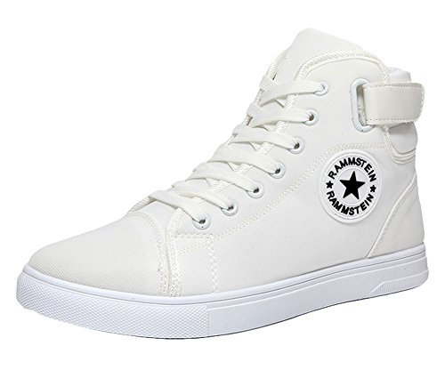 Cesario High Top - King Ma Men's Canvas Fashion High-top Sneakers Shoes White