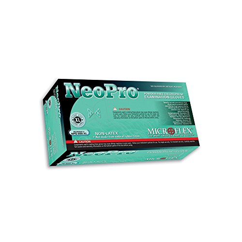 Microflex NeoPro Chloroprene Glove, Powder Free, Polymer Coating, 9.6'' Length, 5.1 mils Thick, Small, Pack of 100 by Microflex (Image #2)