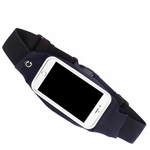 C63iPhone 6/6S nero corsa fitness della cinghia di vita del telefono