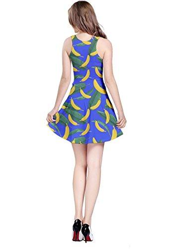 CowCow - Vestido - para mujer Blue & Yellow Bananas