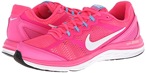 Nike Womens Dual Fusion Run 2 Running Shoe-Hyper Pink/White/Unvsrty Blue