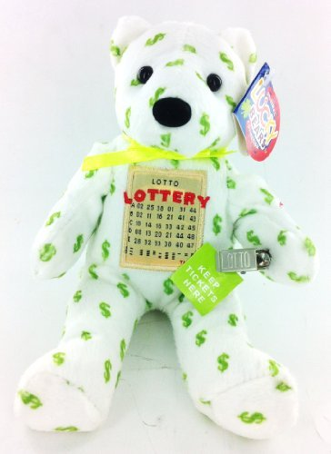 Lottery Lucky Bear Plush Holds Tickets and Money (Bears Tickets)