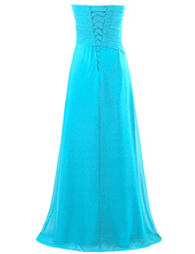 Turquoise s Sweetheart Party Chiffon Women ANTS Long Gown Dresses Evening gqUzAwZ