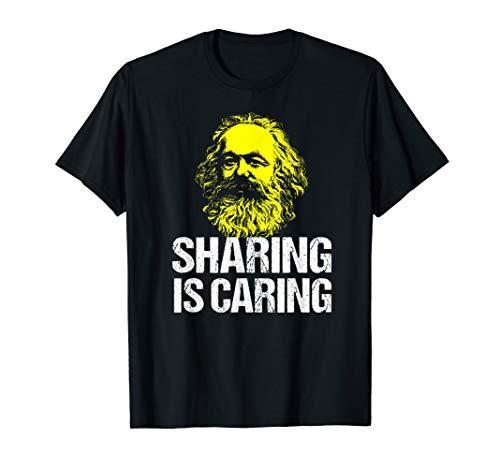 Funny Karl Marx Communist Party Tshirt Socialist Sharing (Karl Marx Wrote The Communist Manifesto As)