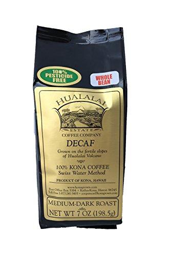 Hualalai Trading estate Coffee 100% Kona Coffee DECAF 7 oz whole bean