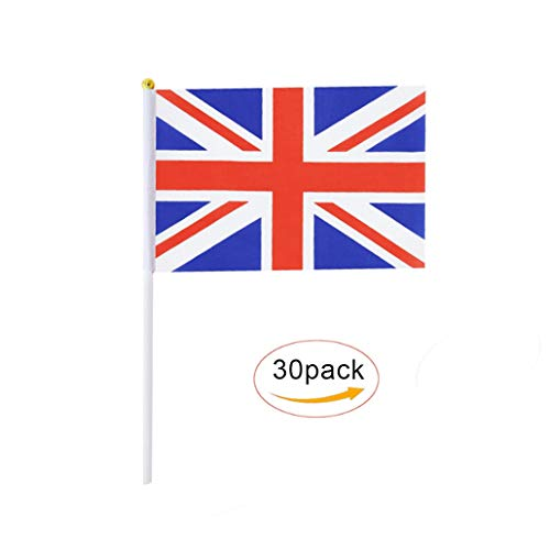 South Korea Stick Flag,Korean Hand Held Mini Small Flags On Stick International Country World Stick Flags For Party Classroom Olympics Festival Clubs Parades Parties Desk Decorations 30 pack