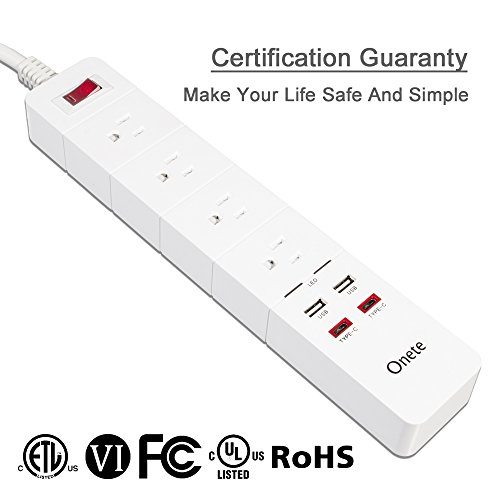 onete power strip smart 8 outlets power usb socket for
