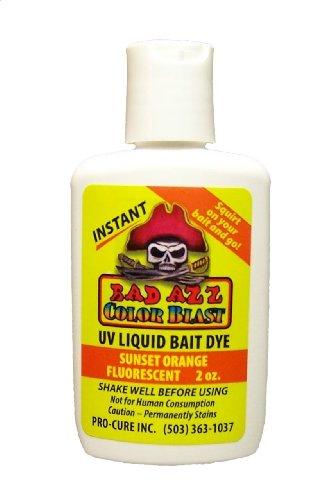 Pro-Cure Bad Azz Color Blast Liquid Bait Dye, 2-Ounce, Sunset Orange Fluorescent