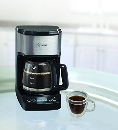 Capresso 426.05 5-Cup Drip Mini Coffeemaker, Black/Silver (5 Cup Programmable Coffee Maker)