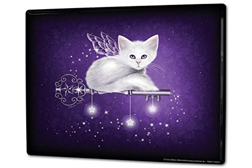 Tin Sign XXL Cat Cat with wings star (Sign Tin Wings)