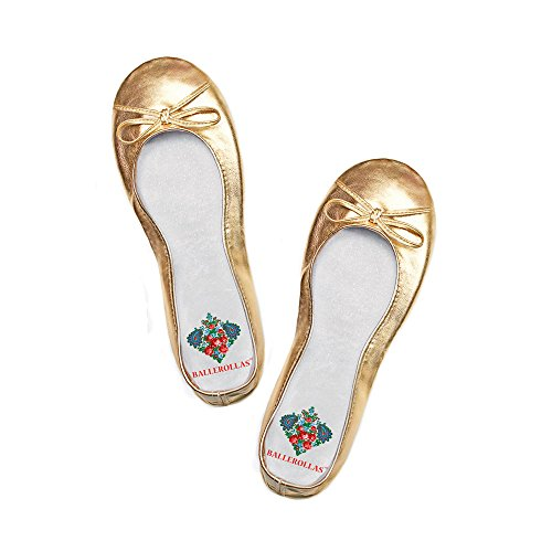 BALLEROLLAS - Bailarinas de Material Sintético para mujer Dorado dorado